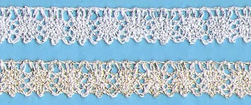 Metalic Cluny Lace