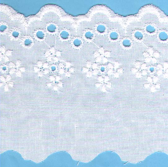 "3 3/8"" Eyelet Cotton Lace"