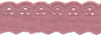 "1"" Eyelet Cotton lace"