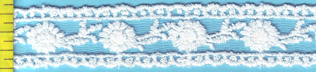 "3/4"" Mesh embroidery lace"