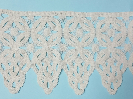 "6  1/2"" Embroidery Cotton lace"
