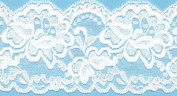 "Stretch Lace 3 1/4"" White"