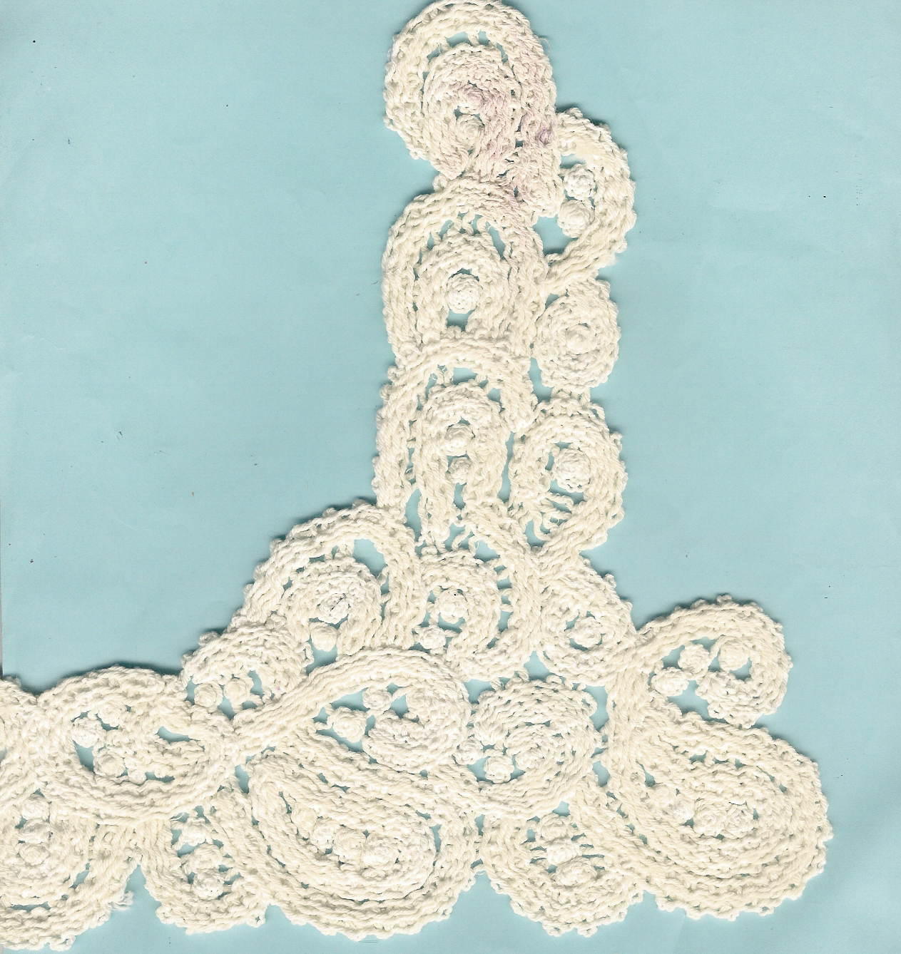 Mechine make crochet applique