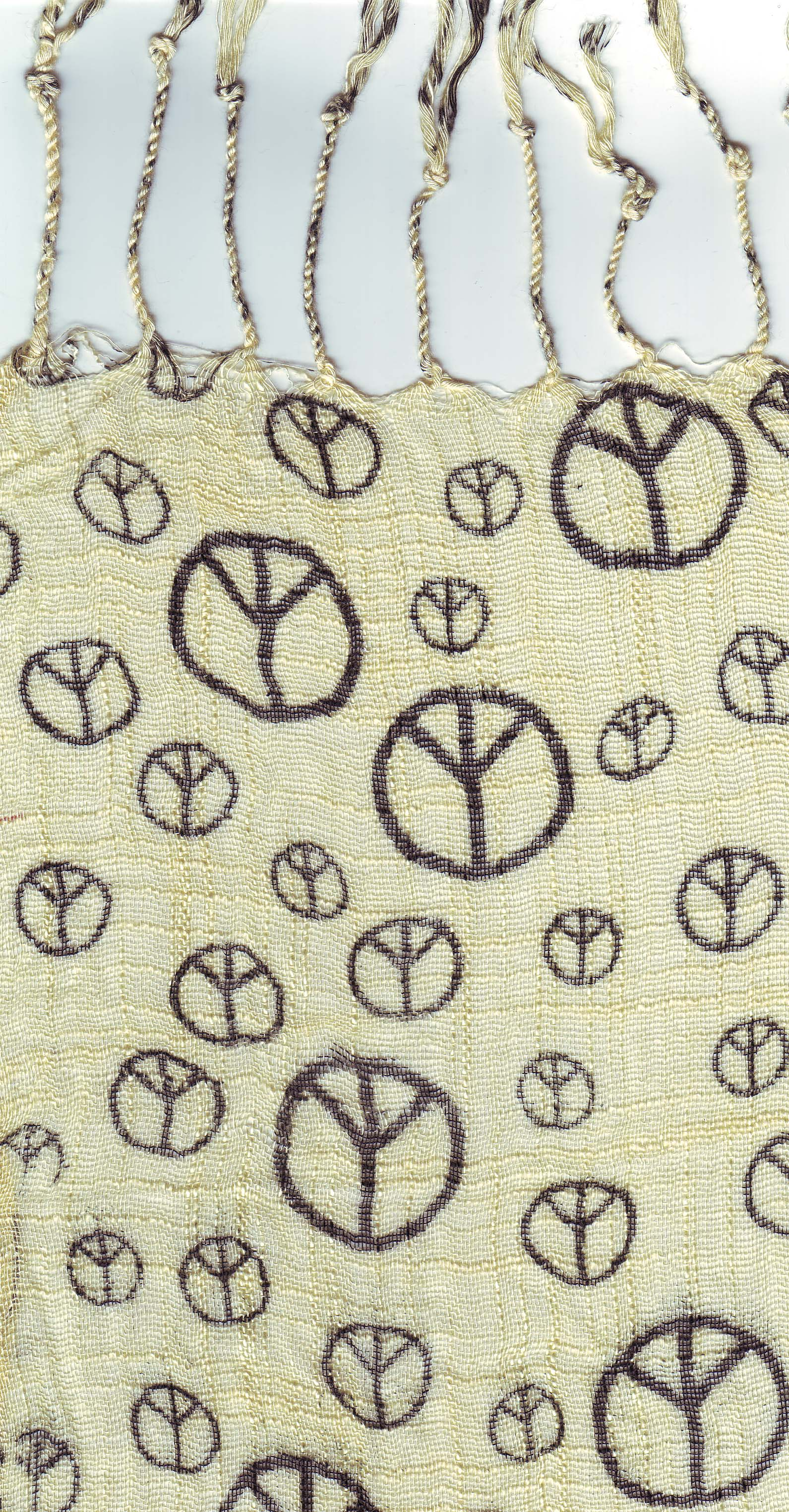 Peace printed  scarf