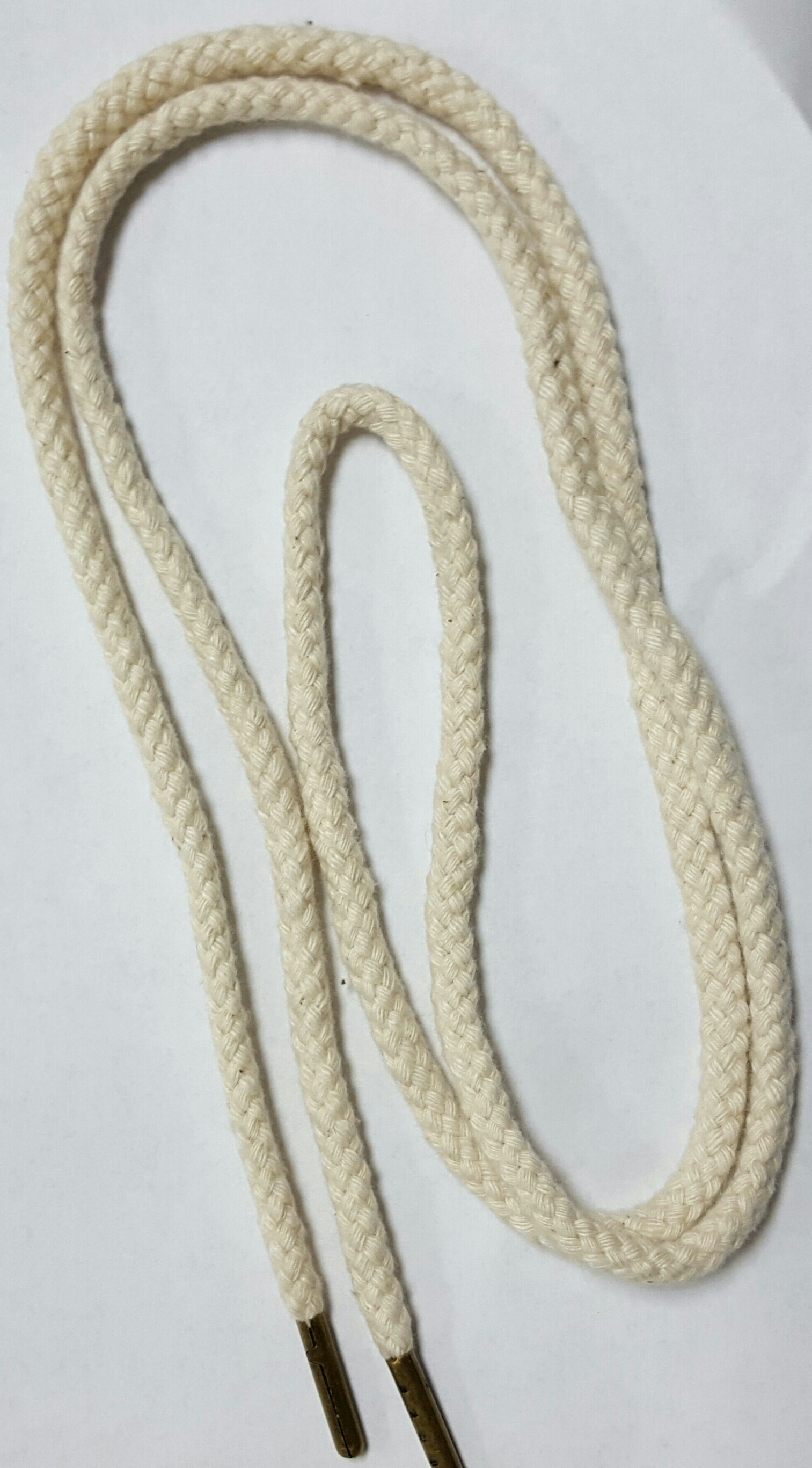 "53"" Cotton cord w/brass tiping"