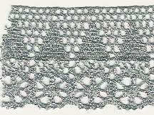 "2""Metallic Cluny Lace"